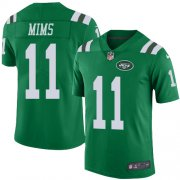 Wholesale Cheap Nike Jets #11 Denzel Mim Green Youth Stitched NFL Limited Rush Jersey