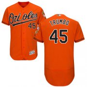 Wholesale Cheap Orioles #45 Mark Trumbo Orange Flexbase Authentic Collection Stitched MLB Jersey