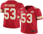 Wholesale Cheap Men's Kansas City Chiefs #53 Anthony Hitchens Red 2021 Super Bowl LV Limited Stitched NFL Jersey