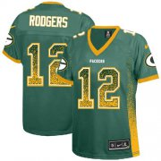 Wholesale Cheap Nike Packers #12 Aaron Rodgers Green Team Color Women's Stitched NFL Elite Drift Fashion Jersey