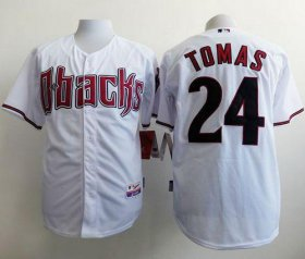 Wholesale Diamondbacks #24 Yasmany Tomas White Cool Base Stitched Baseball Jersey