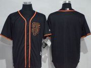 Wholesale Cheap Giants Blank Black New Cool Base Alternate Stitched MLB Jersey