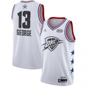Wholesale Cheap Thunder #13 Paul George White Basketball Jordan Swingman 2019 All-Star Game Jersey