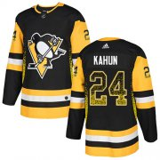 Wholesale Cheap Adidas Penguins #24 Dominik Kahun Black Home Authentic Drift Fashion Stitched NHL Jersey