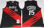 Wholesale Cheap Men's Toronto Raptors #15 Vince Carter 2000-01 Black Hardwood Classics Soul Swingman Throwback Jersey