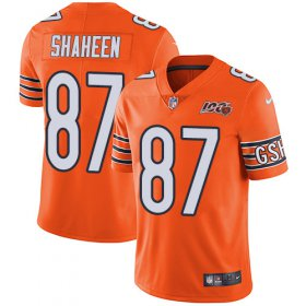 Wholesale Cheap Nike Bears #87 Adam Shaheen Orange Men\'s 100th Season Stitched NFL Limited Rush Jersey