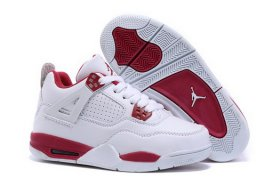 Wholesale Cheap Kid\'s Air Jordan 4 Shoes White/red