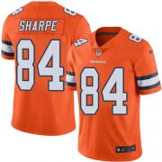 Wholesale Cheap Nike Broncos #84 Shannon Sharpe Orange Youth Stitched NFL Limited Rush Jersey