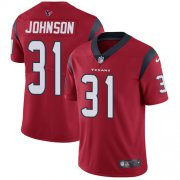 Wholesale Cheap Nike Texans #31 David Johnson Red Alternate Men's Stitched NFL Vapor Untouchable Limited Jersey