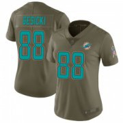Wholesale Cheap Women's Miami Dolphins #88 Mike Gesicki Limited Green 2017 Salute to Service Jersey