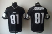 Wholesale Cheap Lions #81 Calvin Johnson Black Shadow Stitched NFL Jersey