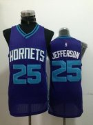 Wholesale Cheap Charlotte Hornets #25 Al Jefferson Purple Swingman Jersey
