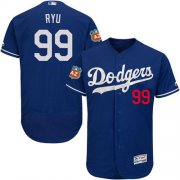 Wholesale Cheap Dodgers #99 Hyun-Jin Ryu Blue Flexbase Authentic Collection Stitched MLB Jersey