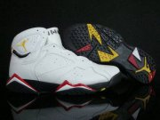 Wholesale Cheap Air Jordan 7 Retro Shoes White/Yellow/Red