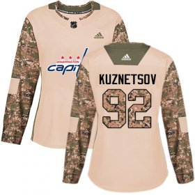 Wholesale Cheap Adidas Capitals #92 Evgeny Kuznetsov Camo Authentic 2017 Veterans Day Women\'s Stitched NHL Jersey