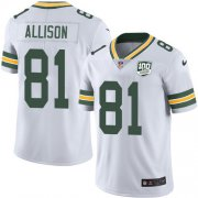 Wholesale Cheap Nike Packers #81 Geronimo Allison White Men's 100th Season Stitched NFL Vapor Untouchable Limited Jersey