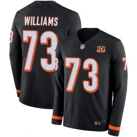 Wholesale Cheap Nike Bengals #73 Jonah Williams Black Team Color Men\'s Stitched NFL Limited Therma Long Sleeve Jersey