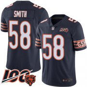 Wholesale Cheap Nike Bears #58 Roquan Smith Navy Blue Team Color Youth Stitched NFL 100th Season Vapor Limited Jersey