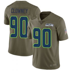 Wholesale Cheap Nike Seahawks #90 Jadeveon Clowney Olive Men\'s Stitched NFL Limited 2017 Salute to Service Jersey