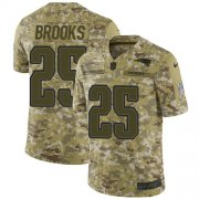 Wholesale Cheap Nike Patriots #25 Terrence Brooks Camo Men's Stitched NFL Limited 2018 Salute To Service Jersey