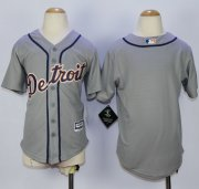 Wholesale Cheap Tigers Blank Grey Cool Base Stitched Youth MLB Jersey
