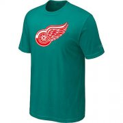Wholesale Cheap Detroit Red Wings Big & Tall Logo Teal Green NHL T-Shirt