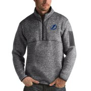 Wholesale Cheap Tampa Bay Lightning Antigua Fortune Quarter-Zip Pullover Jacket Black