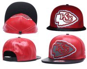 Wholesale Cheap NFL Kansas City Chiefs Team Logo Red Reflective Adjustable Hat P56
