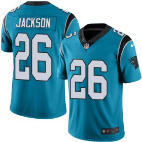 Wholesale Cheap Nike Panthers #26 Donte Jackson Blue Men\'s Stitched NFL Limited Rush Jersey