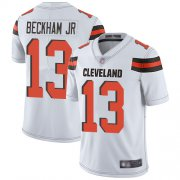 Wholesale Cheap Nike Browns #13 Odell Beckham Jr White Men's Stitched NFL Vapor Untouchable Limited Jersey