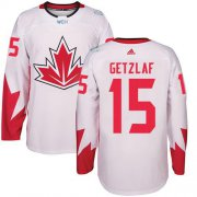 Wholesale Cheap Team Canada #15 Ryan Getzlaf White 2016 World Cup Stitched Youth NHL Jersey