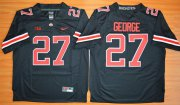 Wholesale Cheap Men's Ohio State Buckeyes #27 Eddie George Black With Red 2015 College Football Nike Limited Jersey