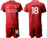 Wholesale Cheap Liverpool #18 Alberto.M Red Home Soccer Club Jersey