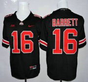 Wholesale Cheap Ohio State Buckeyes #16 J.T. Barrett Black With Red College Football Nike Limited Jersey