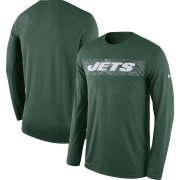 Wholesale Cheap New York Jets Nike Sideline Seismic Legend Long Sleeve T-Shirt Green