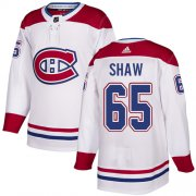 Wholesale Cheap Adidas Canadiens #65 Andrew Shaw White Authentic Stitched Youth NHL Jersey
