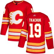 Wholesale Cheap Adidas Flames #19 Matthew Tkachuk Red Alternate Authentic Stitched Youth NHL Jersey