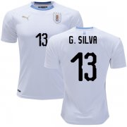 Wholesale Cheap Uruguay #13 G.Silva Away Soccer Country Jersey