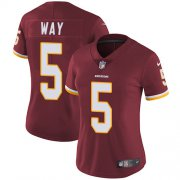 Wholesale Cheap Nike Redskins #5 Tress Way Burgundy Team Color Women's Stitched NFL Vapor Untouchable Limited Jersey