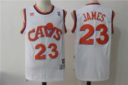 Wholesale Cheap Men's Cleveland Cavaliers 23 Lebron James White Hardwood Classics Swingman Jersey