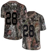 Wholesale Cheap Nike Panthers #28 Rashaan Gaulden Camo Men's Stitched NFL Limited Rush Realtree Jersey