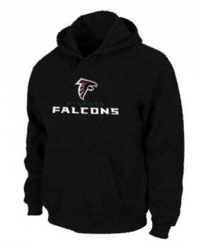 Wholesale Cheap Atlanta Falcons Authentic Logo Pullover Hoodie Black
