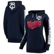 Wholesale Cheap Minnesota Twins G-III 4Her by Carl Banks Women's Extra Innings Pullover Hoodie Navy
