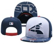 Wholesale Cheap Chicago White Sox Snapback Ajustable Cap Hat YD