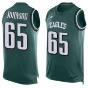 Wholesale Cheap Nike Eagles #65 Lane Johnson Midnight Green Team Color Men's Stitched NFL Limited Tank Top Jersey