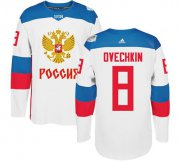 Wholesale Cheap Team Russia #8 Alexander Ovechkin White 2016 World Cup Stitched NHL Jersey