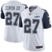 Wholesale Cheap Nike Cowboys #27 Ha Ha Clinton-Dix White Men's Stitched With Established In 1960 Patch NFL Limited Rush Jersey
