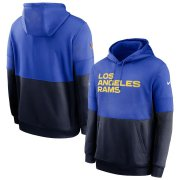 Wholesale Cheap Los Angeles Rams Nike Sideline Impact Lockup Performance Pullover Hoodie Royal Navy