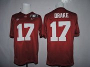 Wholesale Cheap Men's Alabama Crimson Tide #17 Kenyan Drake Red 2016 BCS College Football Nike Limited Jersey