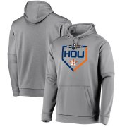 Wholesale Cheap Houston Astros Majestic 2019 Postseason Dugout Authentic Pullover Hoodie Gray